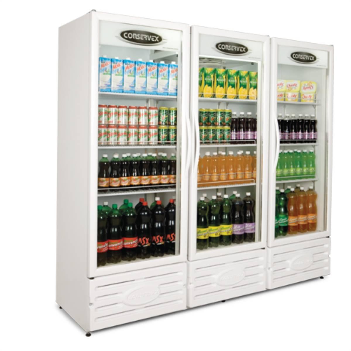Expositor Refrigerado Vertical 3 Portas ERV-1300 Conservex  - Magazine do Chef