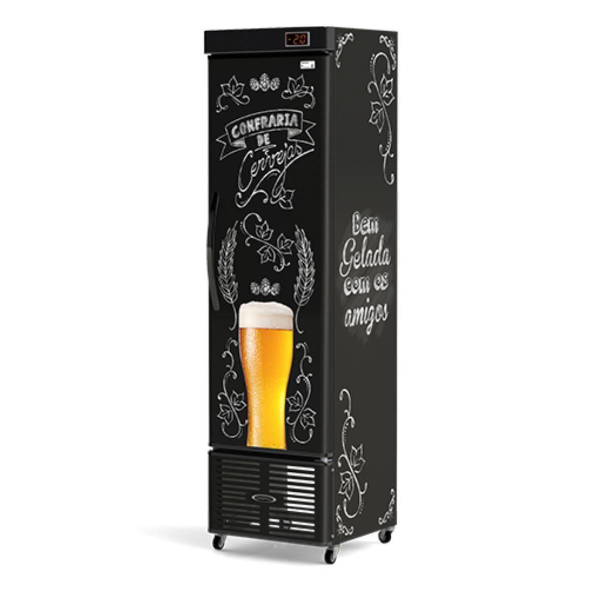 Cervejeira Refrigerada Vertical Slim 250L CRV-250 Conservex - Magazine do Chef