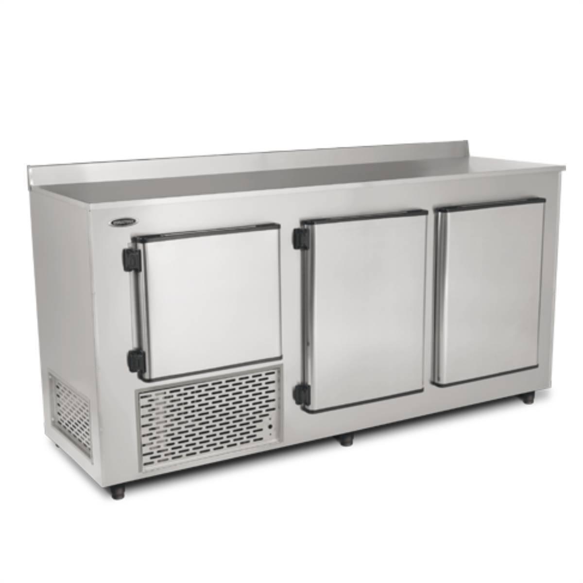 Balcão de Encosto Refrigerado 1,90m Inox BRE-190Conservex - Magazine do Chef