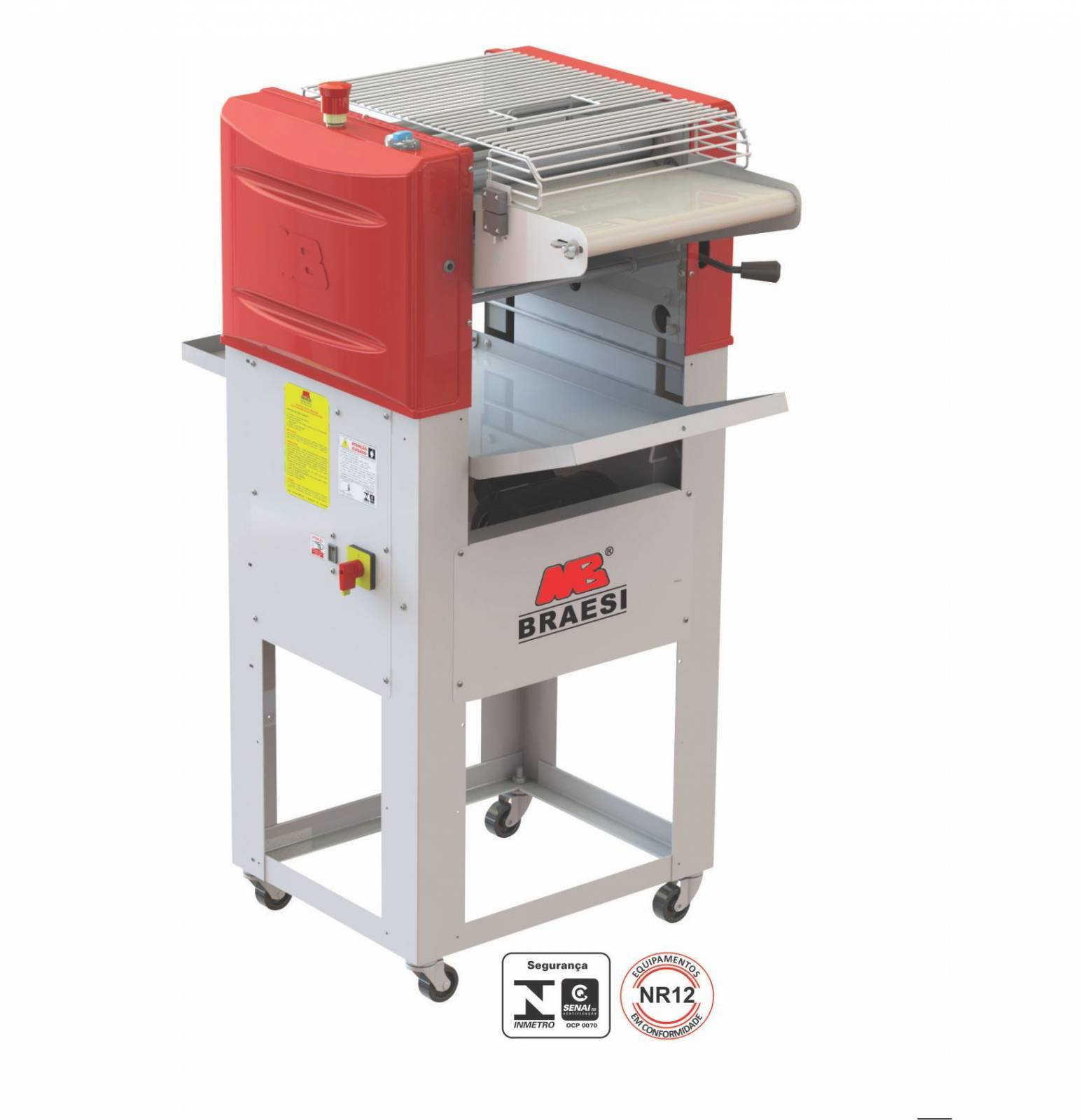 Modeladora de Pães Industrial 350mm Pedestal MB35/1 Braesi - Magazine do Chef