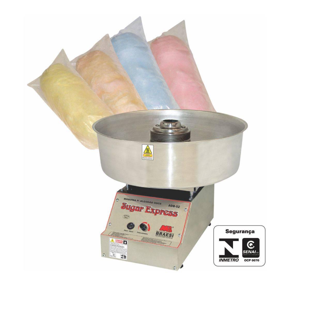 Máquina de Algodão Doce Profissional Inox ADB-02 Braesi - Magazine do Chef