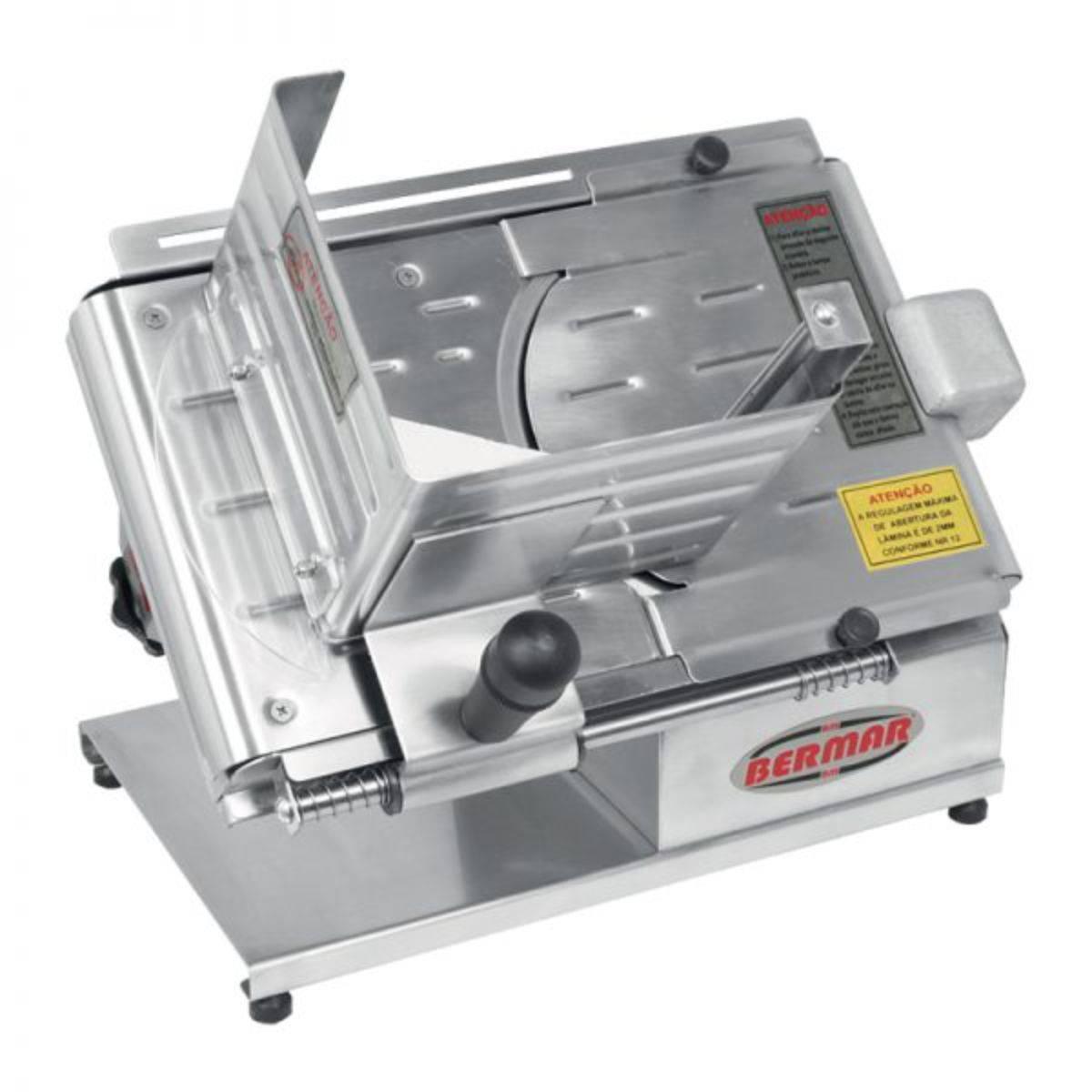 Cortador de Frios Semi Automático 196mm Inox Bivolt BM06NR B - Magazine do Chef