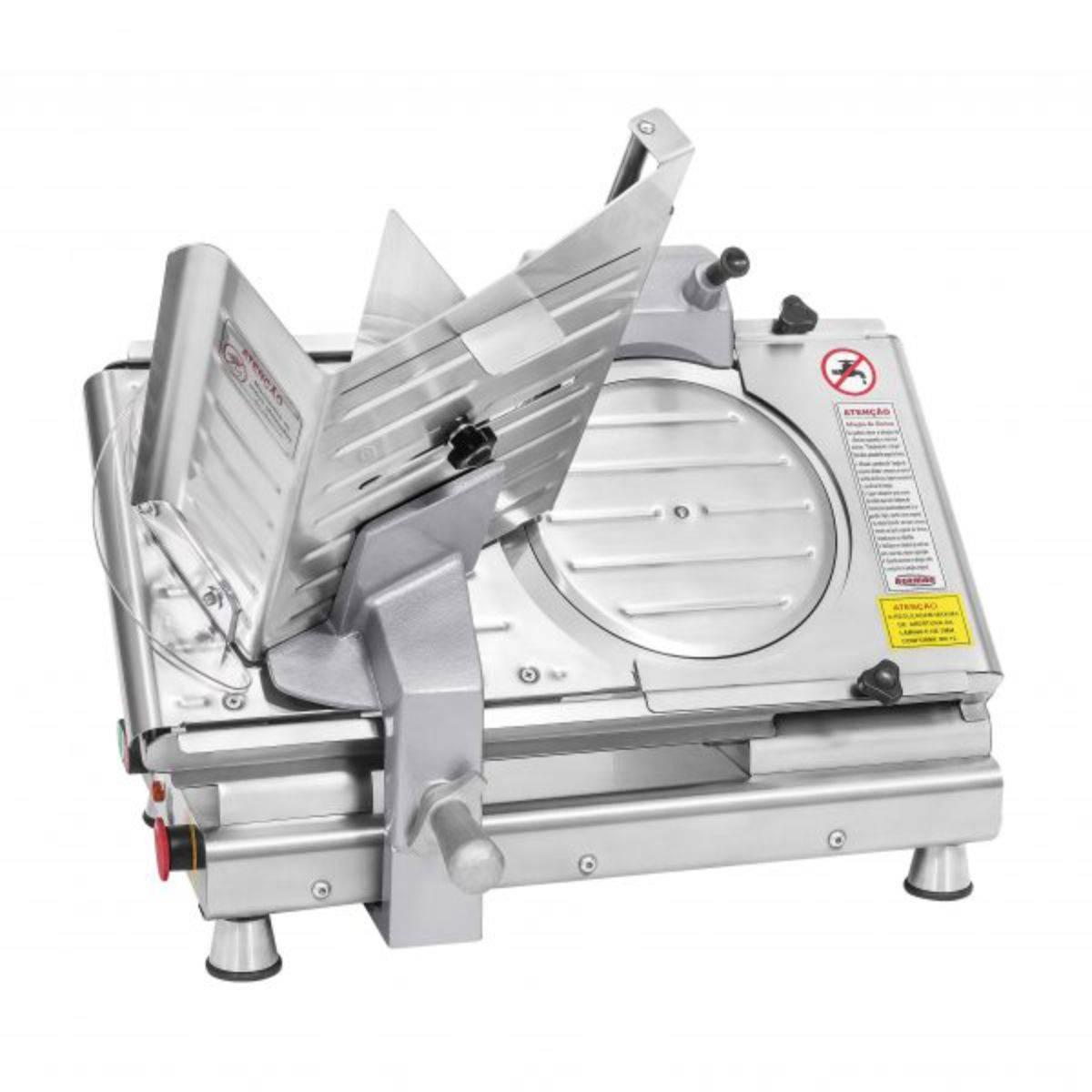 Cortador de Frios Semi Automático 250mm Inox Bivolt BM17 Ber - Magazine do Chef
