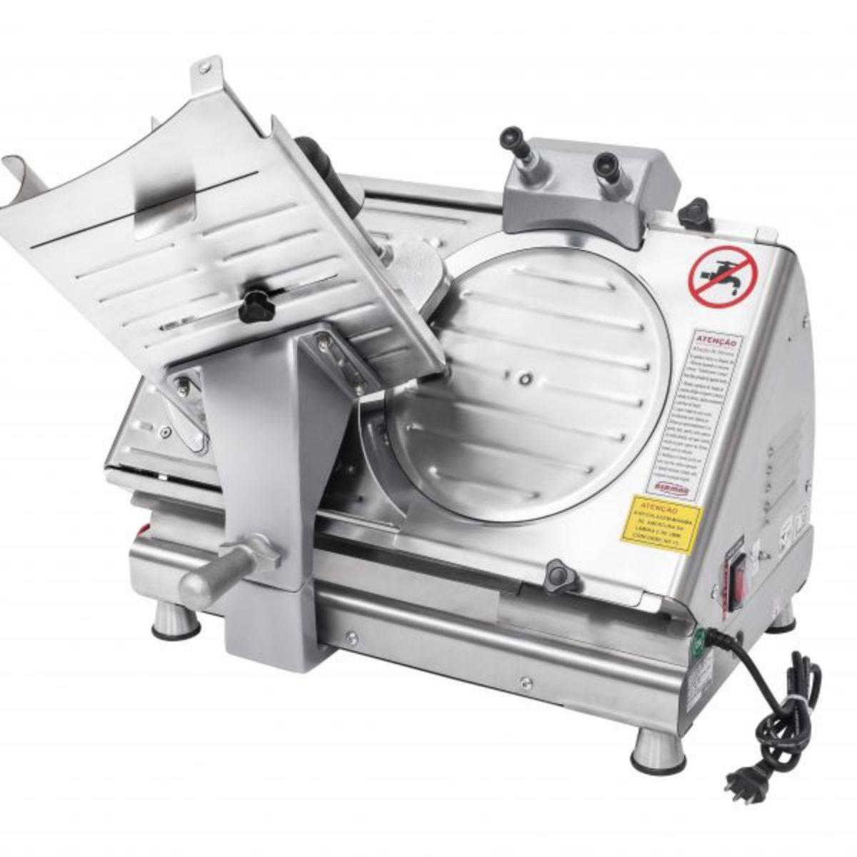 Cortador de Frios Semi Automático 300mm Inox Biv BM19 Bermar - Magazine do Chef
