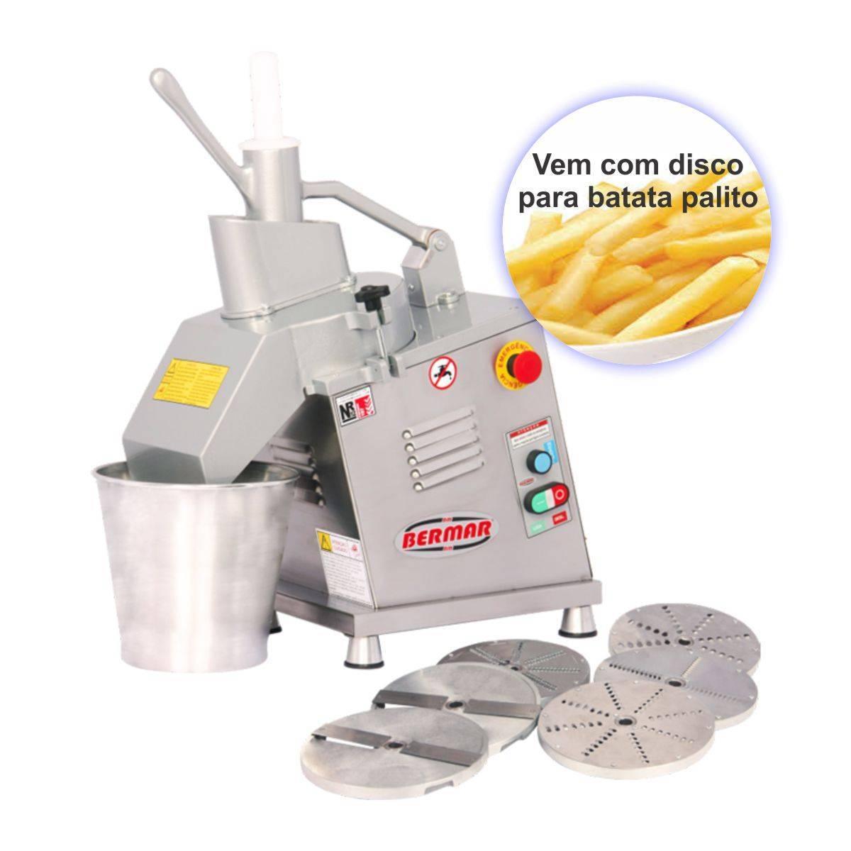 Processador de Alimentos Inox com 7 Discos Biv BM125 Bermar - Magazine do Chef