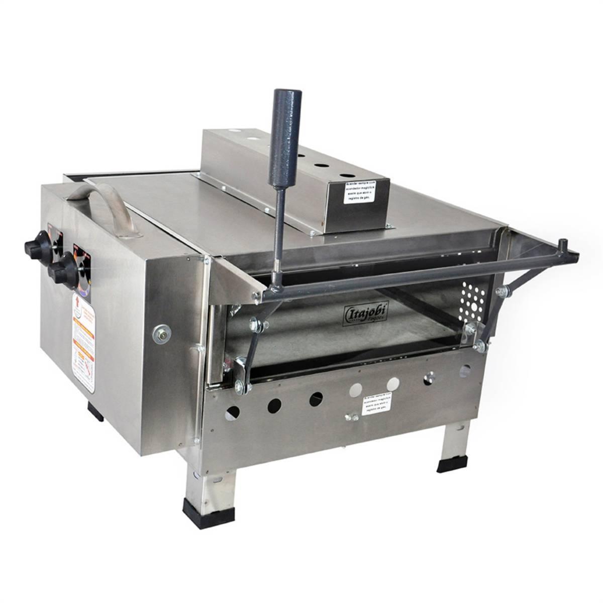 Pizza Grill Fixo Refratário Luxo com Infravermelho 425x425 I - Magazine do Chef