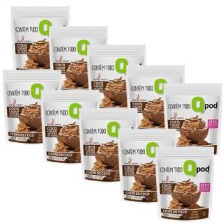 Combo 10 unidades - Chips de Coco assado – Sabor Chocolate