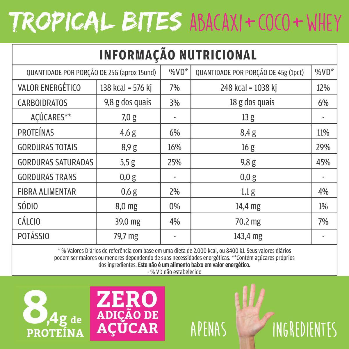 TROPICAL BITES (ABACAXI + COCO + WHEY) - QPod