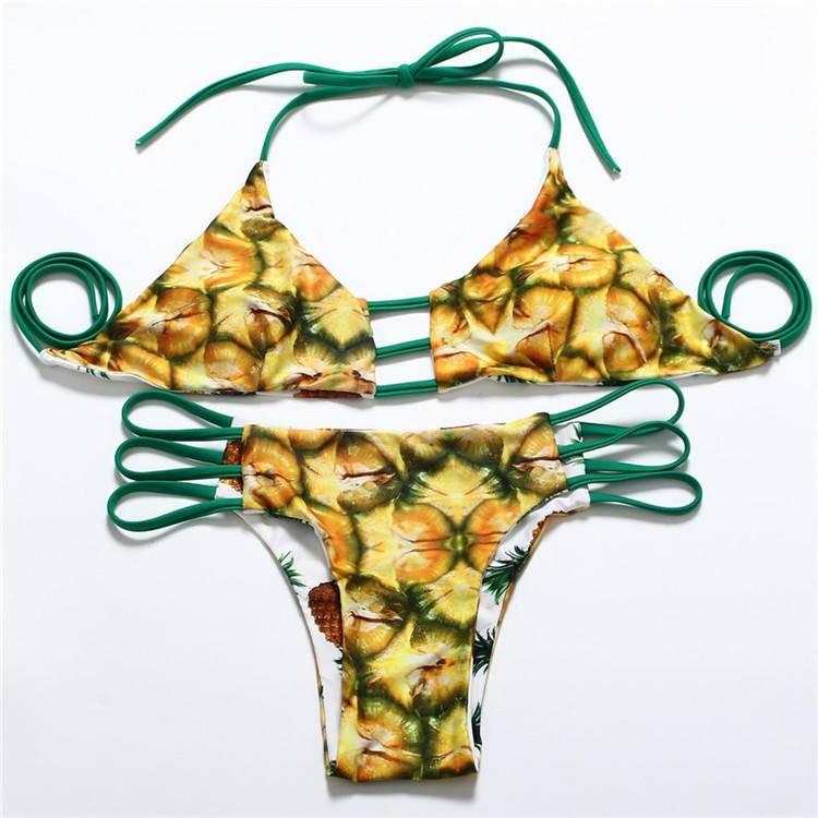 Bikini dupla face estampa TROPICAL BITES - QPod