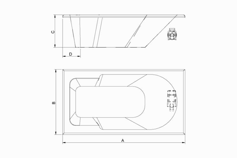 Banheira Astra Gel Coat Capri Luxo com Aquecedor - Casa Sul Materiais e Acabamento