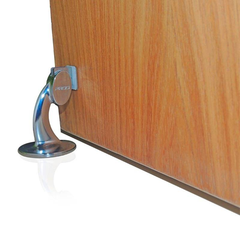 Fixador de Porta magnético Pado  Cromado - Casa Sul Materiais e Acabamento