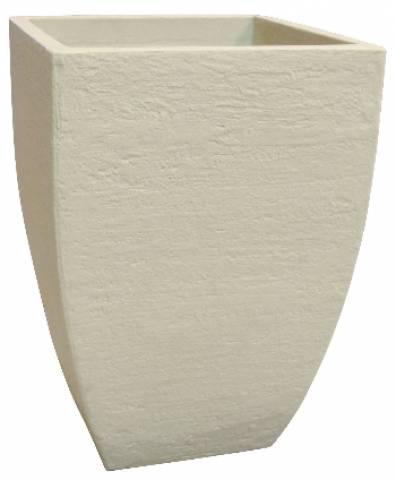 Vaso Quadrado Moderno Japi Polietileno JVQMC36  Cimento - Casa Sul Materiais e Acabamento