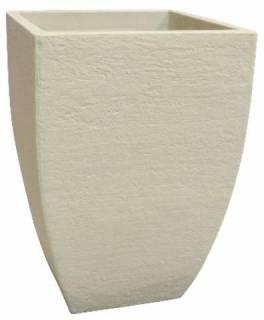 Vaso Quadrado Moderno Japi Polietileno JVQMC36  Cimento