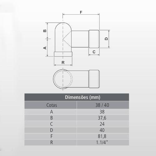 Adaptador para Máquina de Lavar Roupa Tigre - Casa Sul Materiais e Acabamento