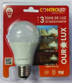 Lâmpada Controled 3 Tons de Luz 9W 6500K Luz Branca