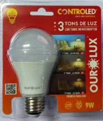 Lâmpada Controled 3 Tons de Luz 9W 2700K Luz Branco Morna
