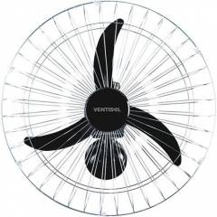 Ventilador Parede Ventisol 60Cm Preto Grade Cromada Bivolt