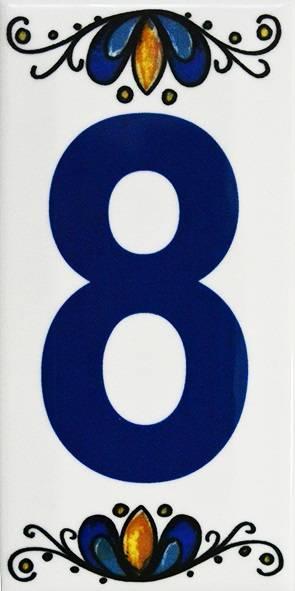 Número Residencial Cerâmico 15.cm  8 - Casa Sul Materiais e Acabamento