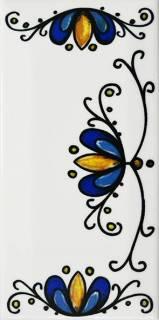 Número Residencial Cerâmico 15.cm  Floral