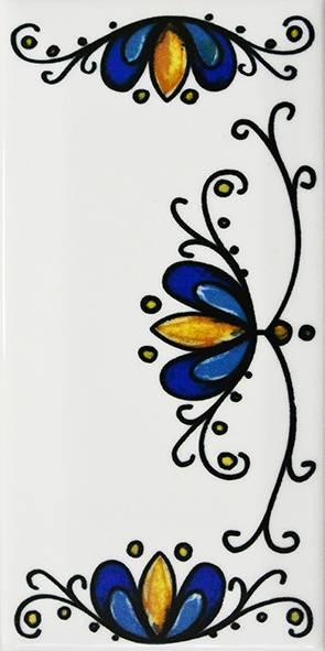 Número Residencial Cerâmico 15.cm  Floral - Casa Sul Materiais e Acabamento