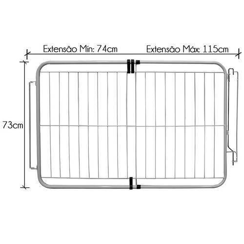 Portão Extensivo Pet Açomix 74 à 1,15.m Branco - Casa Sul Materiais e Acabamento