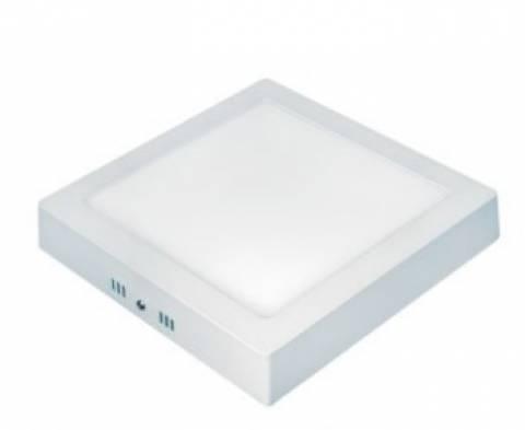 Painel Led Sobrepor Quadrado Taschibra  18W 6500K Luz Branca - Casa Sul Materiais e Acabamento