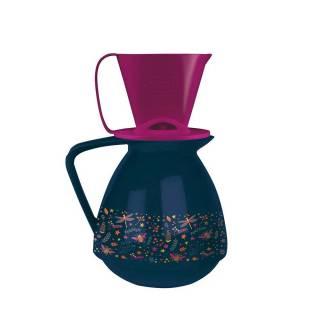 Conjunto Amábile Bule E Suporte Para Coador De Café Azul Marinho