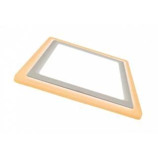Painel Led Dual Color Embutir Quadrado Taschibra  12+4W 3000K Luz Quente