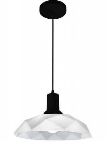 Pendente Sides M3 Branco-Preto - Casa Sul Materiais e Acabamento