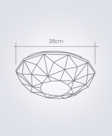 Plafon Sides M3 Startec  Branco - Casa Sul Materiais e Acabamento