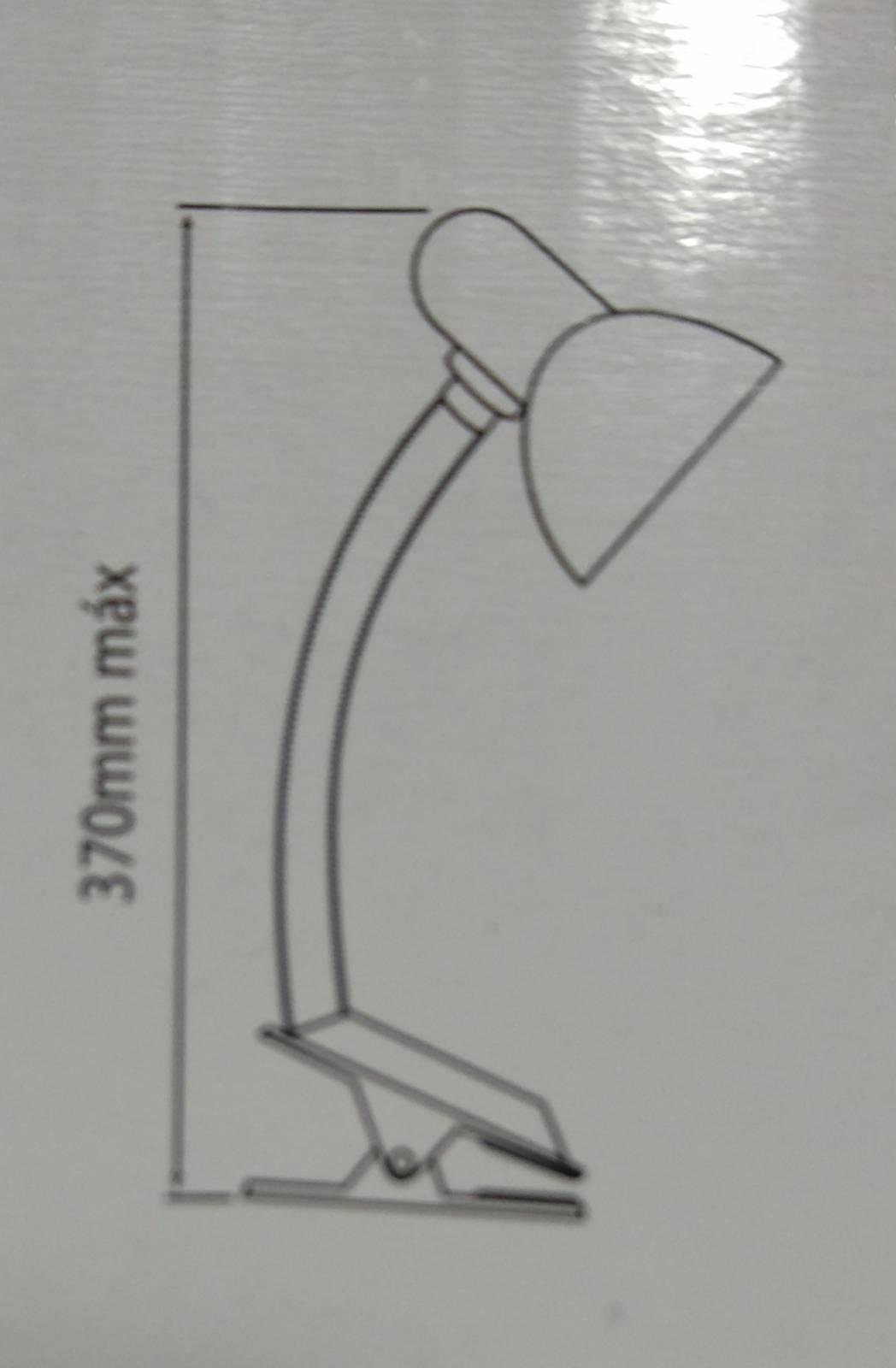 Luminária de mesa Viking Presilha  Preto - Casa Sul Materiais e Acabamento