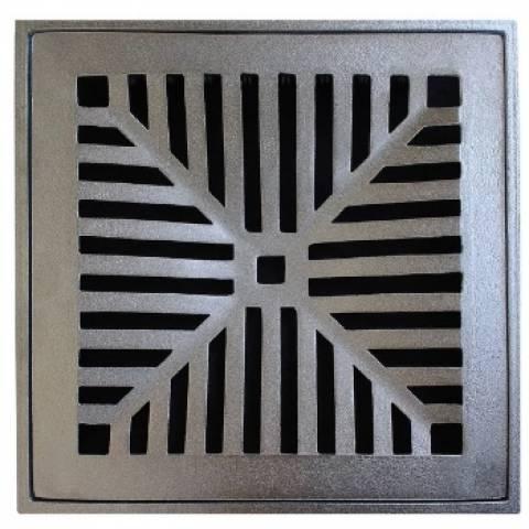 Grelha Alumínio Com Suporte  20x20.cm  Martelado - Casa Sul Materiais e Acabamento