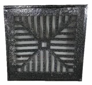Grelha Alumínio Com Suporte  30x30.cm  Onix