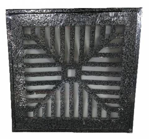 Grelha Alumínio Com Suporte  30x30.cm  Onix - Casa Sul Materiais e Acabamento