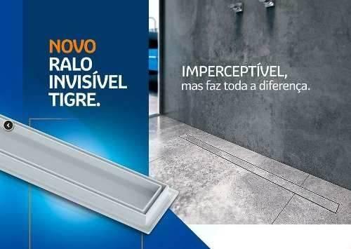 Ralo Linear Invisível Tigre 50.cm - Casa Sul Materiais e Acabamento