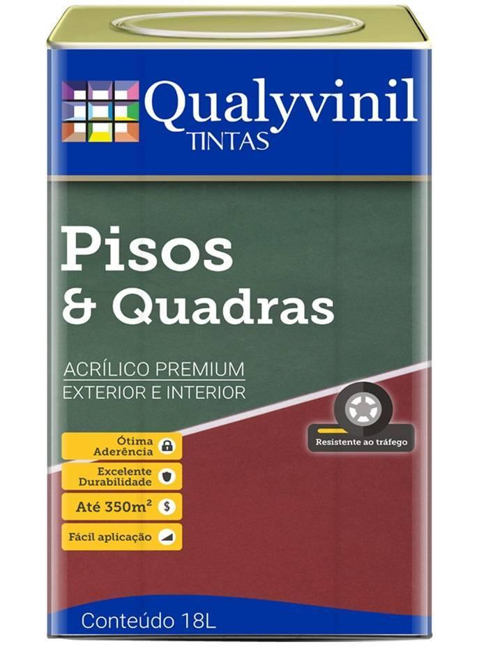 Tinta Pisos & Quadras Qualyvinil 18.L Branco - Casa Sul Materiais e Acabamento