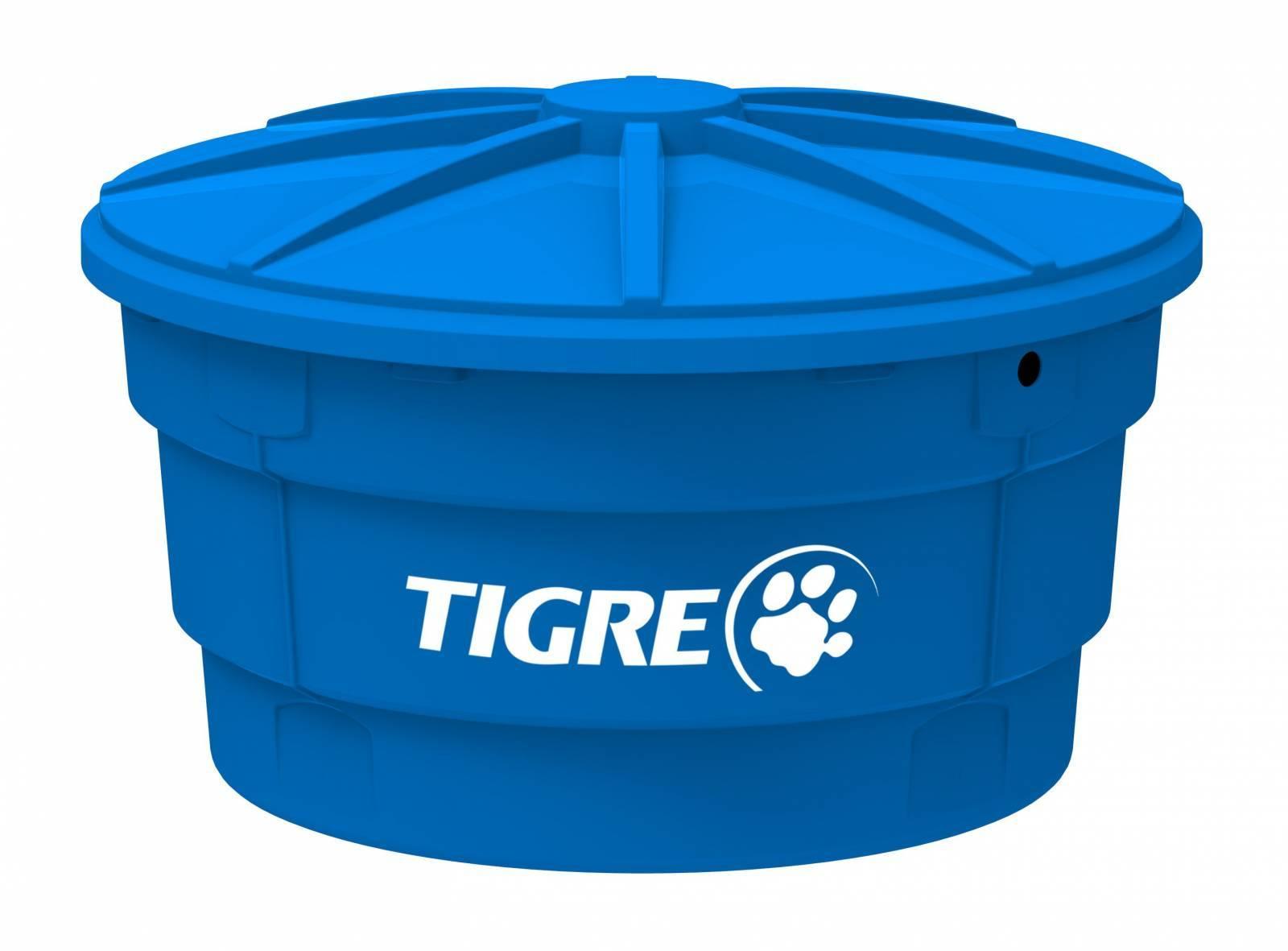 Caixa D'água Tigre com Tampa Azul 500.L - Casa Sul Materiais e Acabamento