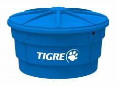 Caixa D'água Tigre com Tampa Azul 500.L