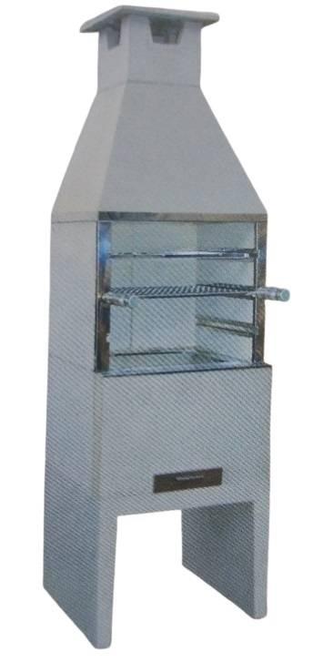 Churrasqueira Pré Moldada Comum Lisa Pequena - Casa Sul Materiais e Acabamento
