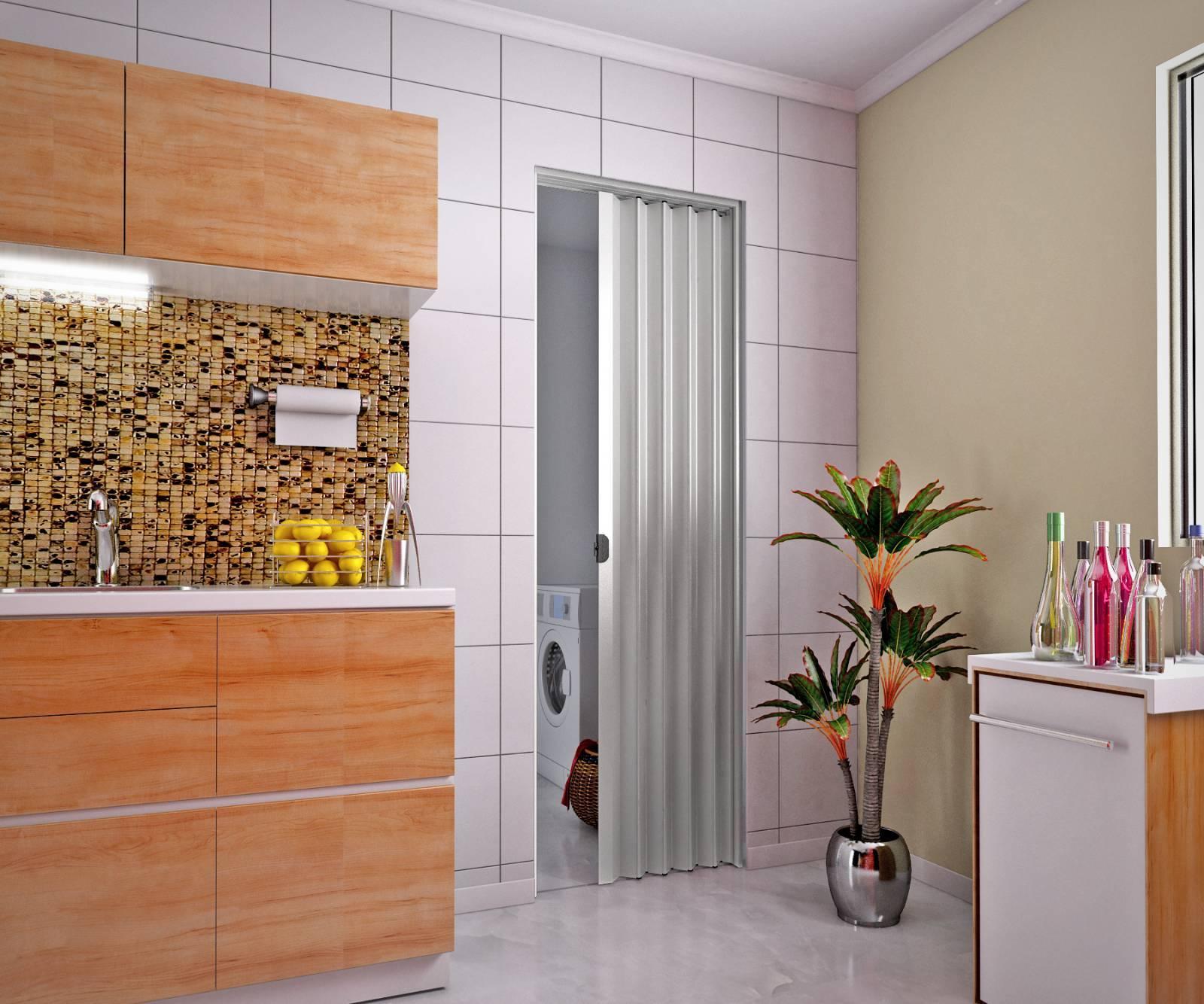 Porta Sanfonada De Pvc plasbil 2,10 x 80.cm Cinza - Casa Sul Materiais e Acabamento