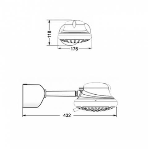 Chuveiro Lorenzetti Bella Ducha Turbo 4T 220v - 6800w - Casa Sul Materiais e Acabamento