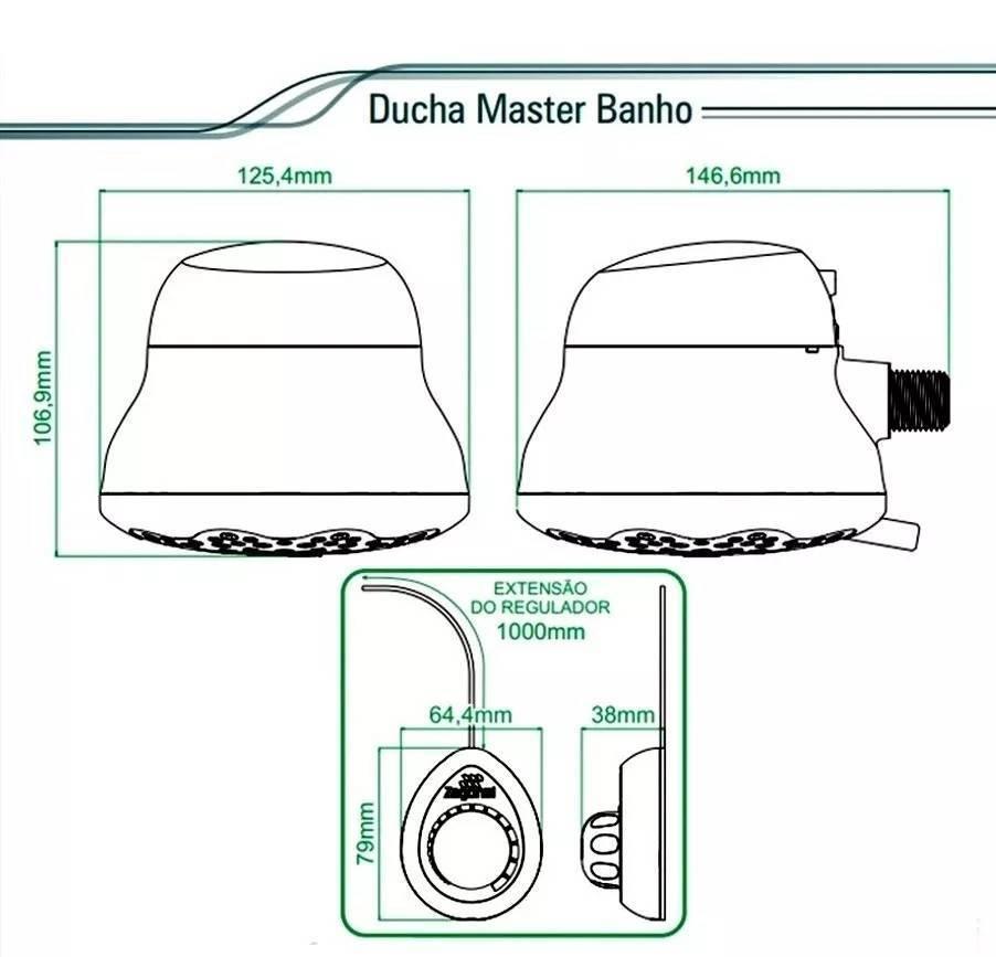Ducha Zagonel Master Banho 127v - 5500w - Casa Sul Materiais e Acabamento