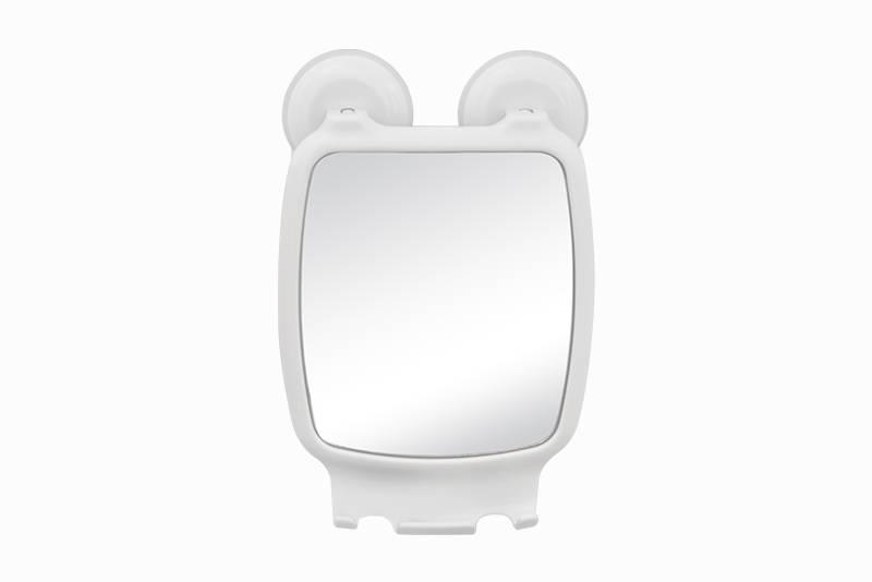 Espelho com Ventosa Astra Branco - Casa Sul Materiais e Acabamento