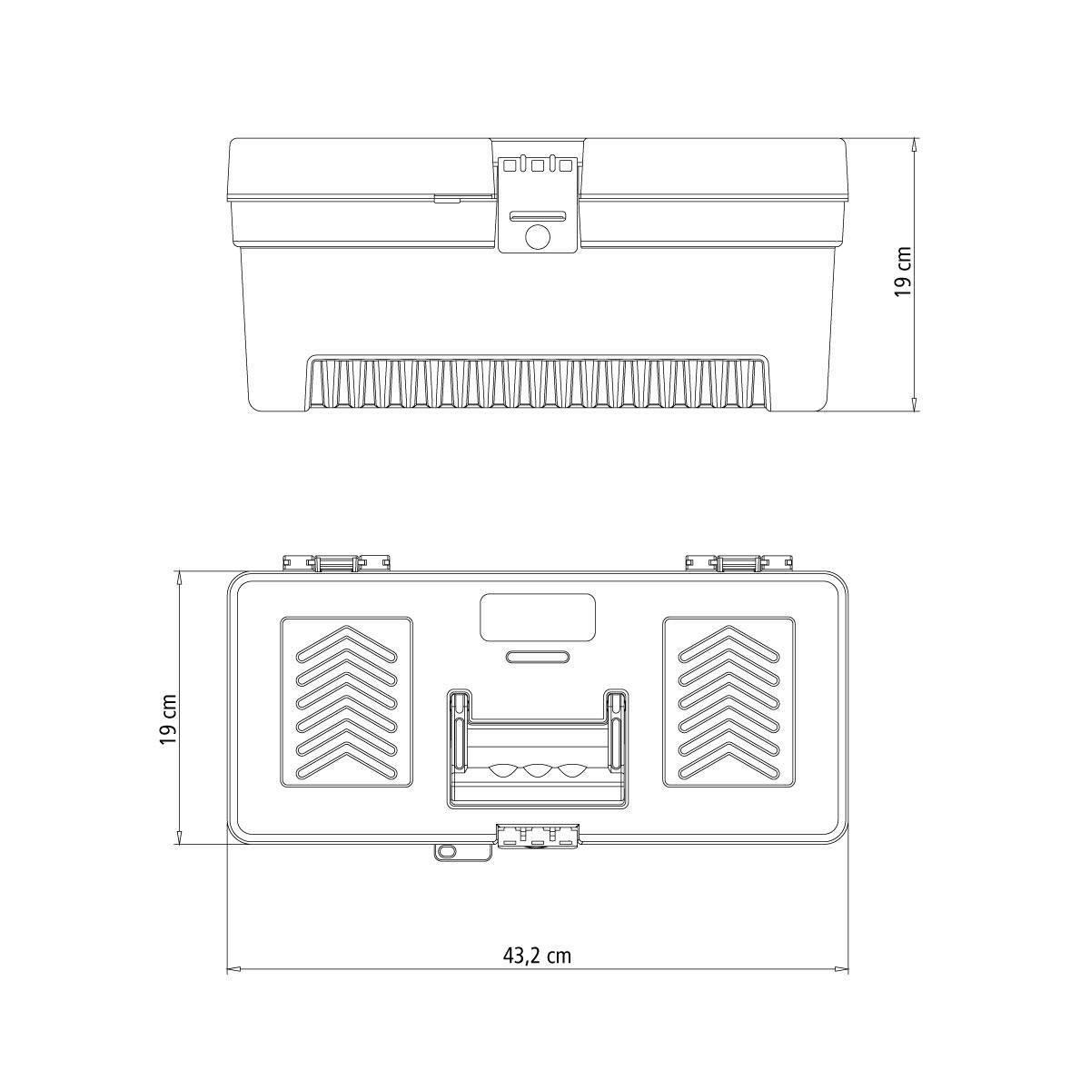 Caixa Plástica de Ferramentas Tramontina 43804/117 17