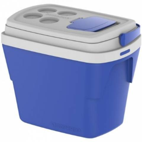 Caixa Térmica Soprano Tropical 28.L  Azul - Casa Sul Materiais e Acabamento