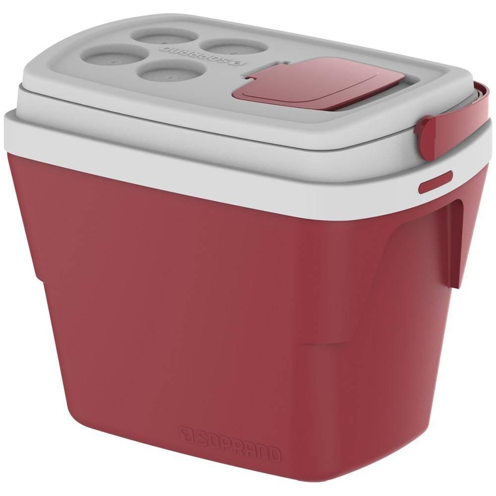 Caixa Térmica Soprano Tropical 28.L  Vermelha - Casa Sul Materiais e Acabamento