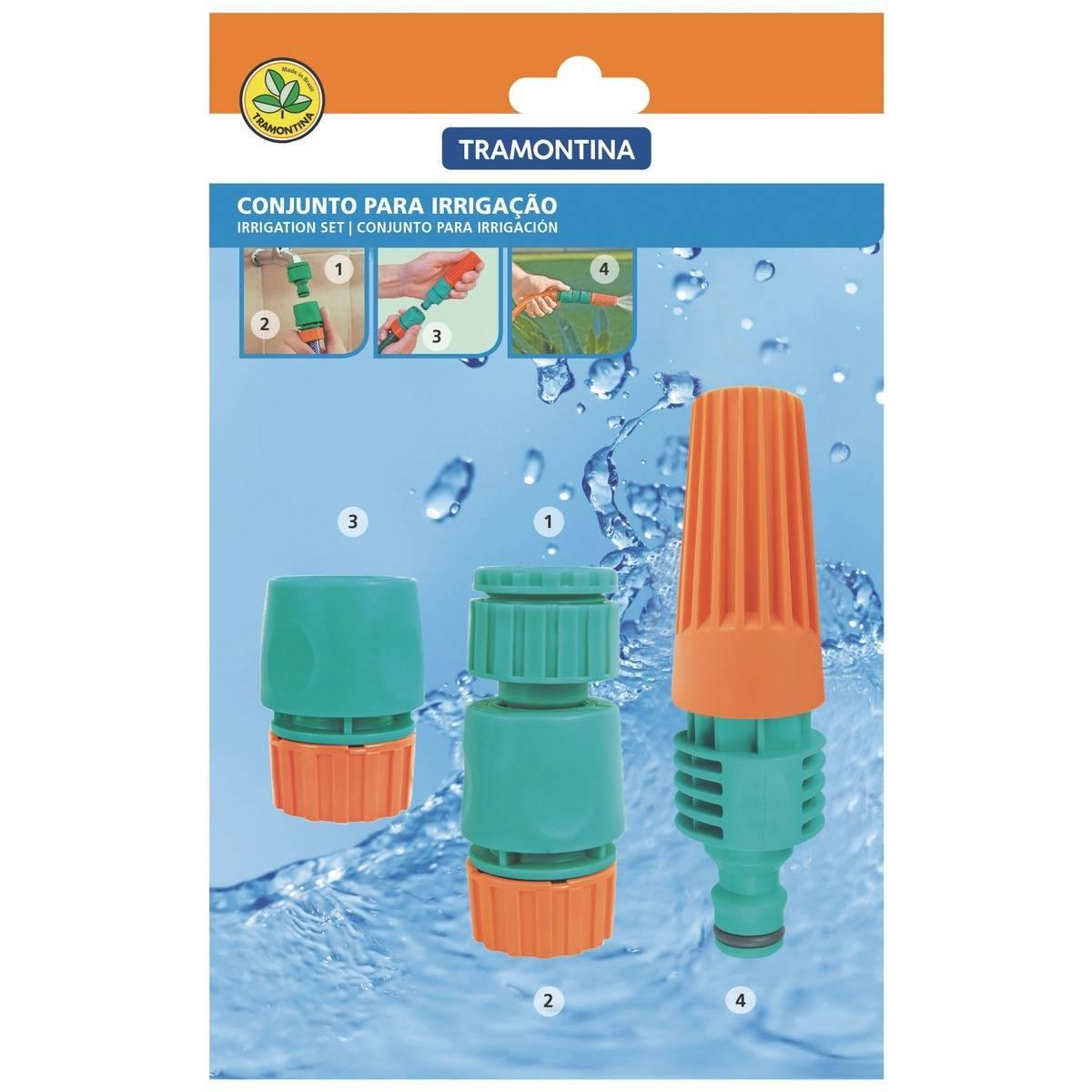 Conjunto Irrigação Tramontina 4 peças - Casa Sul Materiais e Acabamento