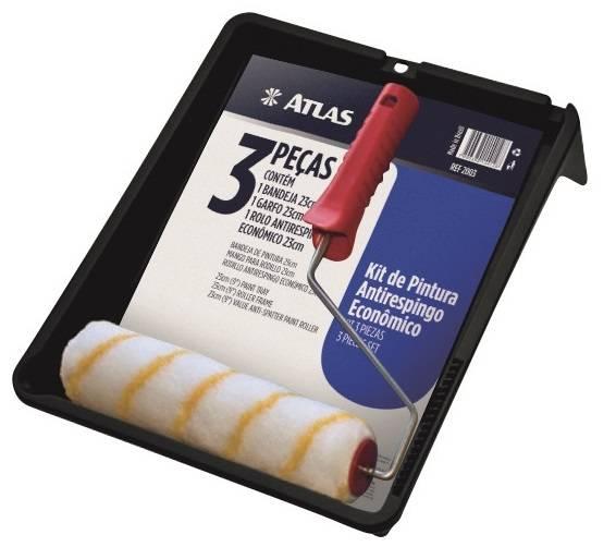 Bandeja Pintura Atlas Kit com 3 peças AT2003 - Casa Sul Materiais e Acabamento