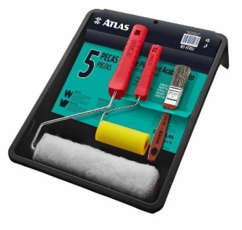 Bandeja Pintura Atlas Kit com 5 peças AT1002 - Casa Sul Materiais e Acabamento