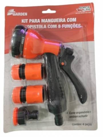 Kit para Mangueira Force Line Esguicho 8 Funções - Casa Sul Materiais e Acabamento